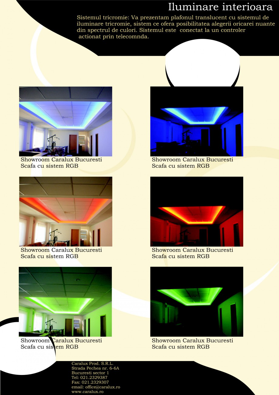Pagina 6 - Iluminarea interioare - Neon Light CARALUX Catalog, brosura Romana stem RGB  Showroom...