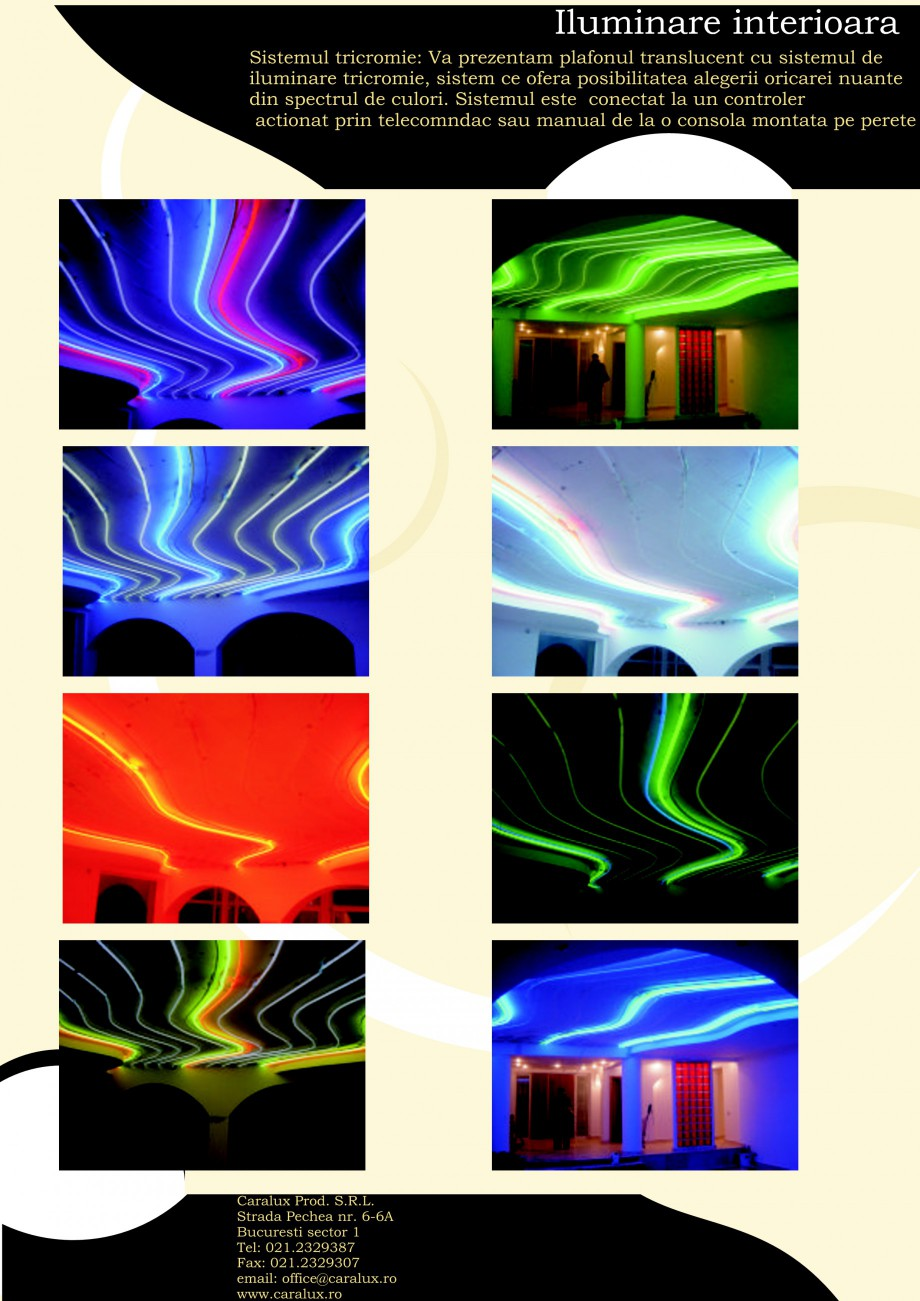 Pagina 8 - Iluminarea interioare - Neon Light CARALUX Catalog, brosura Romana mare  Locuita...