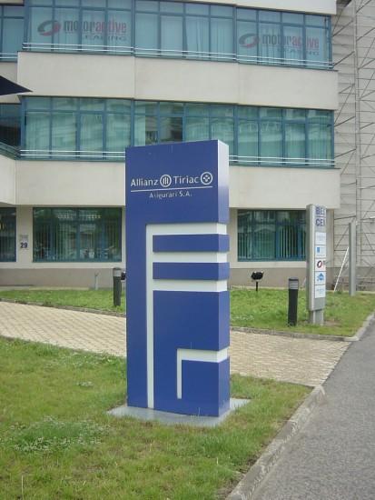 Sistem de iluminare - Totem Allianz Sistem de iluminare - Totem Allianz