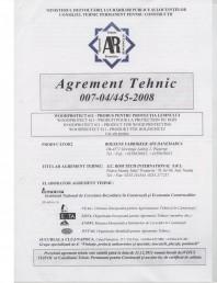 Tratament pentru lemn - Agrement tehnic