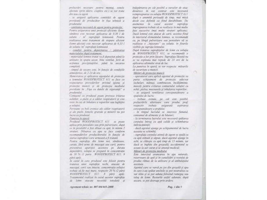 Pagina 4 - Tratament pentru lemn - Agrement tehnic Nordcoll - AGREMENT WoodProtect 611 Certificare...