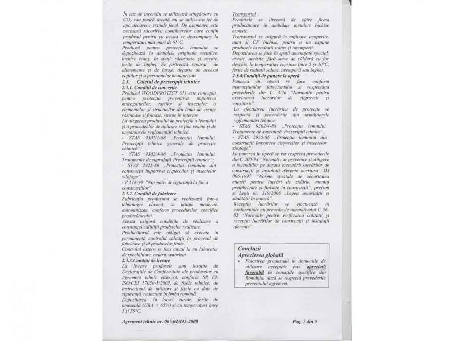 Pagina 5 - Tratament pentru lemn - Agrement tehnic Nordcoll - AGREMENT WoodProtect 611 Certificare...