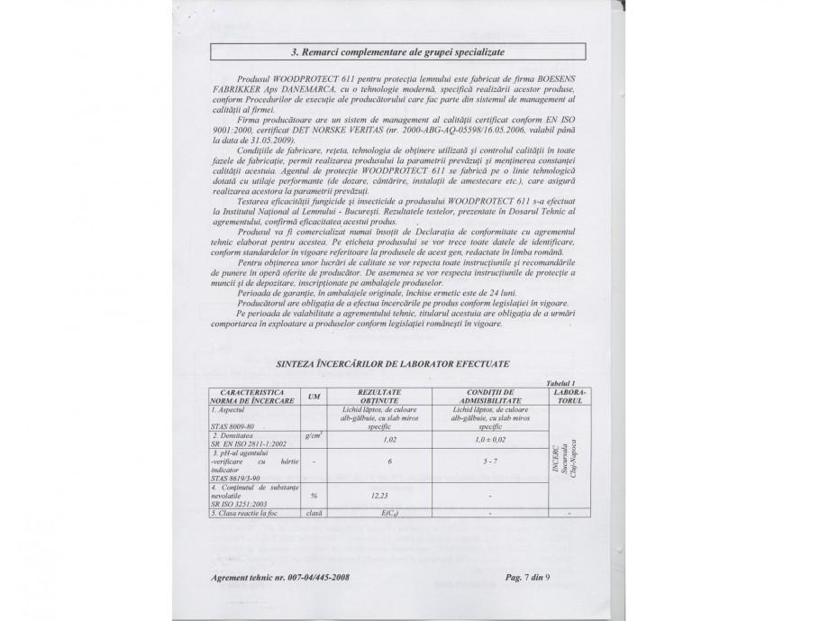 Pagina 7 - Tratament pentru lemn - Agrement tehnic Nordcoll - AGREMENT WoodProtect 611 Certificare...