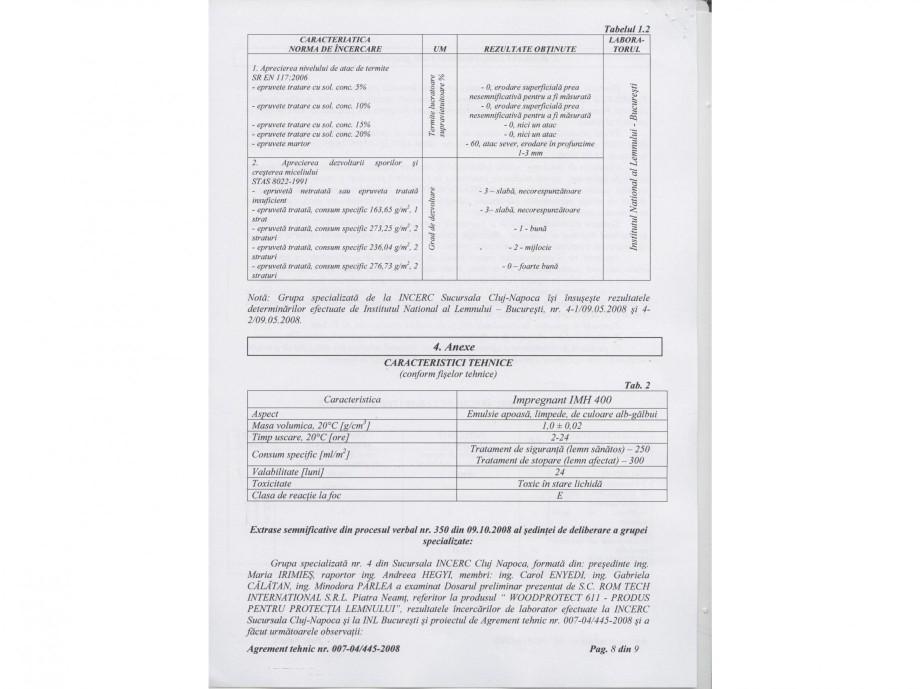 Pagina 8 - Tratament pentru lemn - Agrement tehnic Nordcoll - AGREMENT WoodProtect 611 Certificare...
