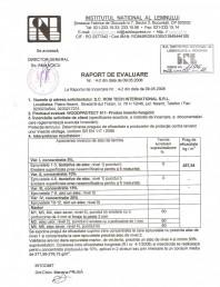 Tratament pentru lemn - Raport evaluare impotriva insectelor