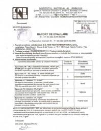 Tratament pentru lemn - Raport evaluare impotriva mucegaiului