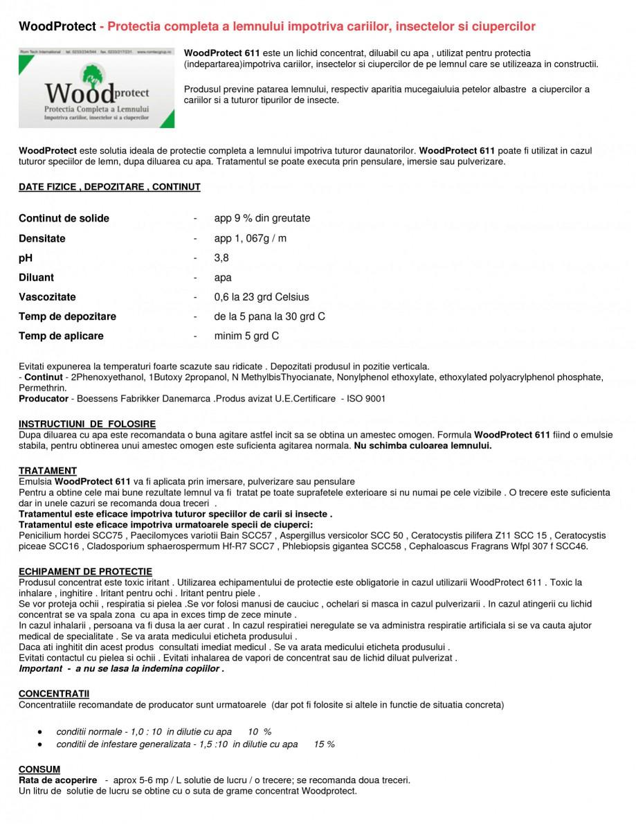 Pagina 1 - Tratament pentru lemn impotriva daunatorilor biologici Nordcoll - AGREMENT WoodProtect...