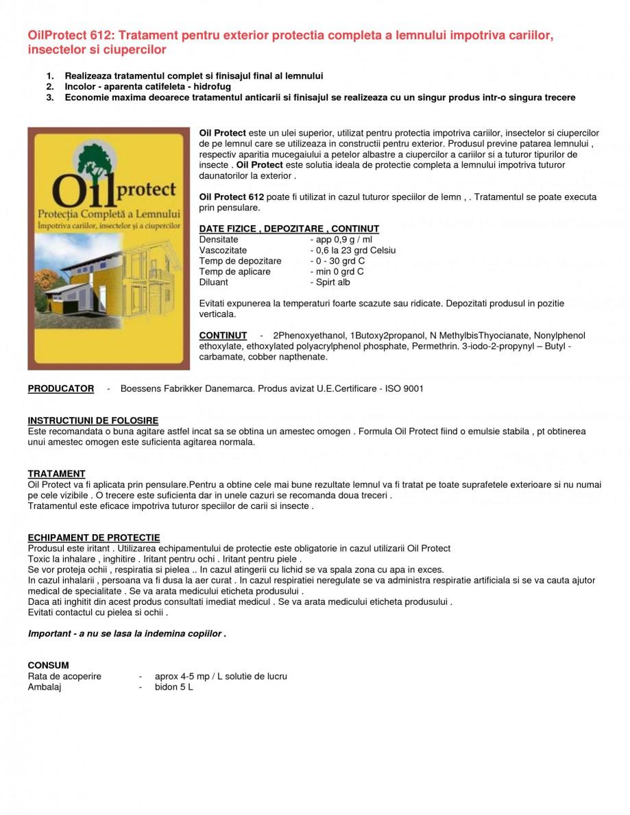 Pagina 1 - Tratament pentru protectia lemnului impotriva cariilor, insectelor si ciupercilor...