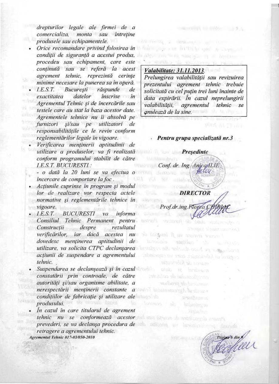 Pagina 6 - Produs pentru ignifugarea lemnului - Agrement tehnic Magma International MAGMA FIRESTOP...