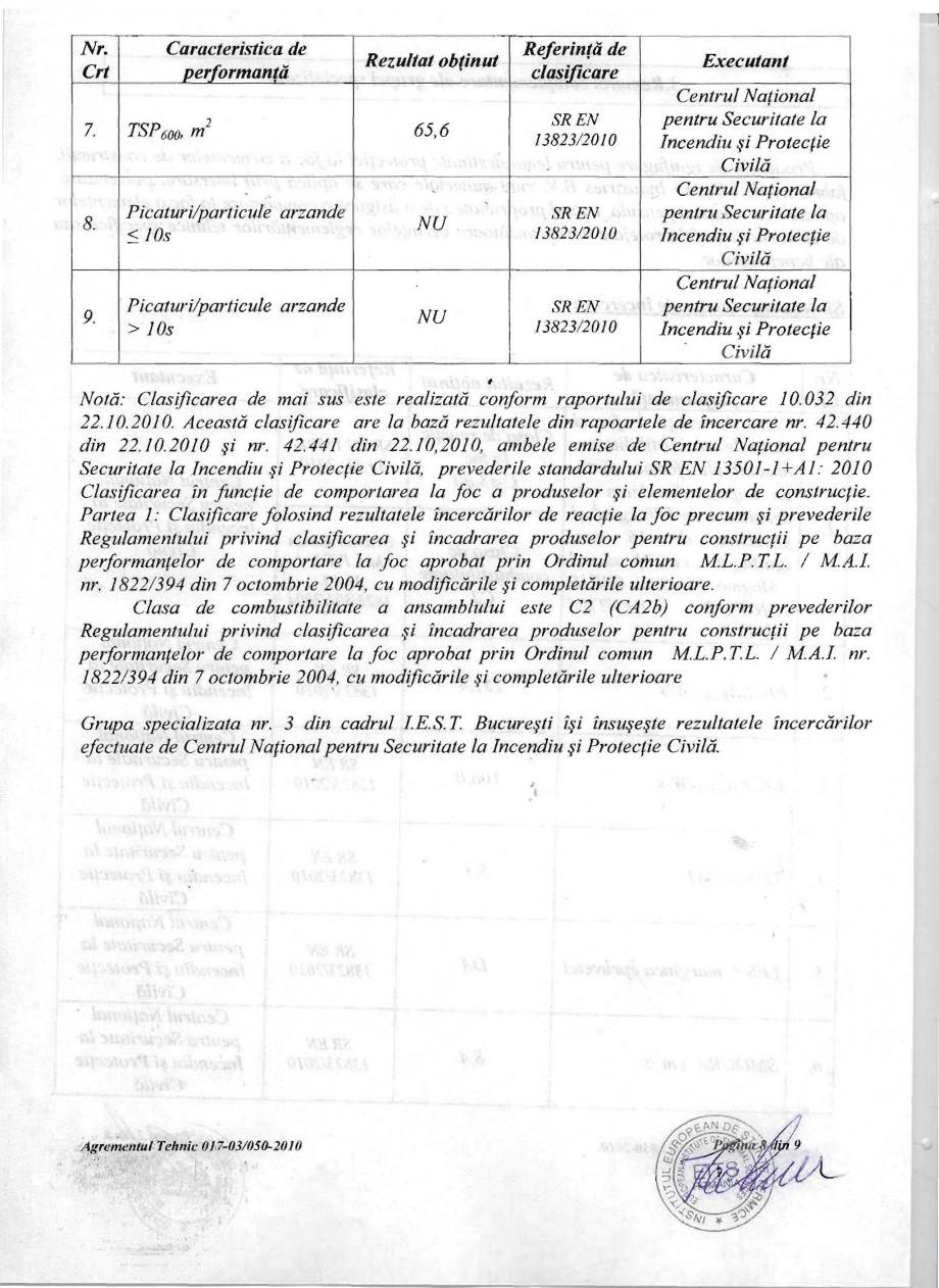 Pagina 8 - Produs pentru ignifugarea lemnului - Agrement tehnic Magma International MAGMA FIRESTOP...