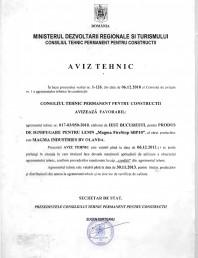 Produs pentru ignifugarea lemnului - Aviz tehnic