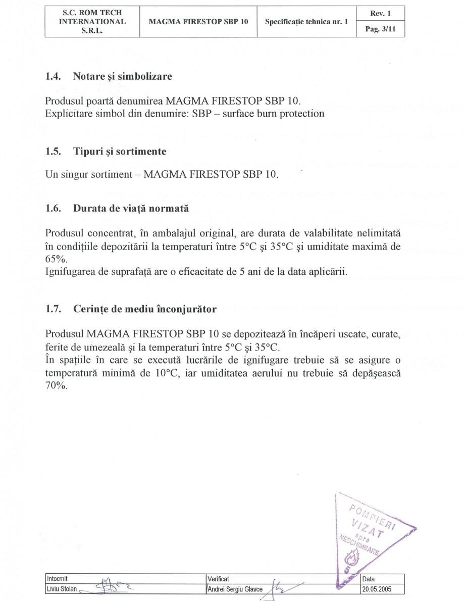 Pagina 3 - Produs pentru ignifugarea lemnului - Siguranta si utilizare Magma International MAGMA...