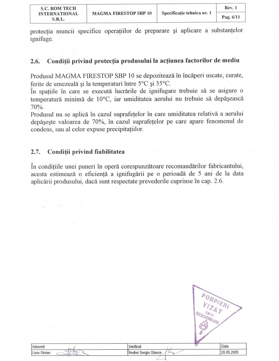 Pagina 6 - Produs pentru ignifugarea lemnului - Siguranta si utilizare Magma International MAGMA...