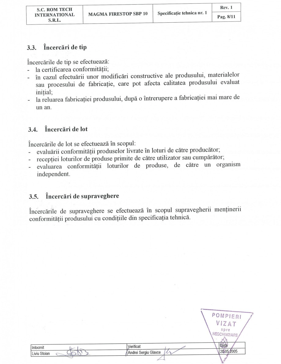 Pagina 8 - Produs pentru ignifugarea lemnului - Siguranta si utilizare Magma International MAGMA...