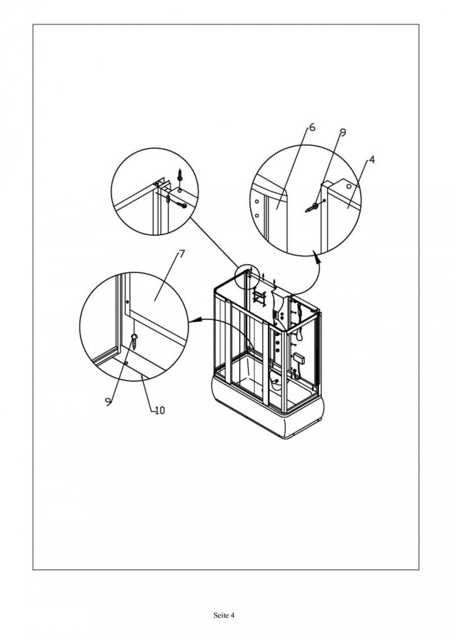 instructiuni montaj  utilizare cabina de dus completa sw01