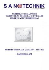 Cazi cu sisteme de hidromasaj KOLLER SANOTECHNIK