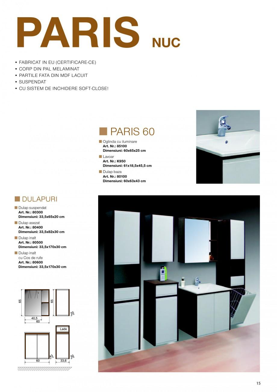 Fisa tehnica mobilier de baie paris sanotechnik mobilier for Mobilier paris
