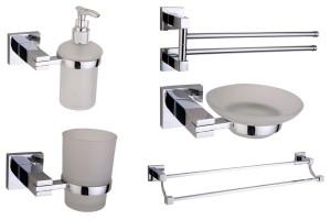 Accesorii pentru baie Gama de accesorii pentru baie sau grupuri sanitare SANOTECHNIK cuprinde: port prosoape, cuiere, perii WC, suporti hartie, etajere, sapuniere, dozatoare sapun, etc.