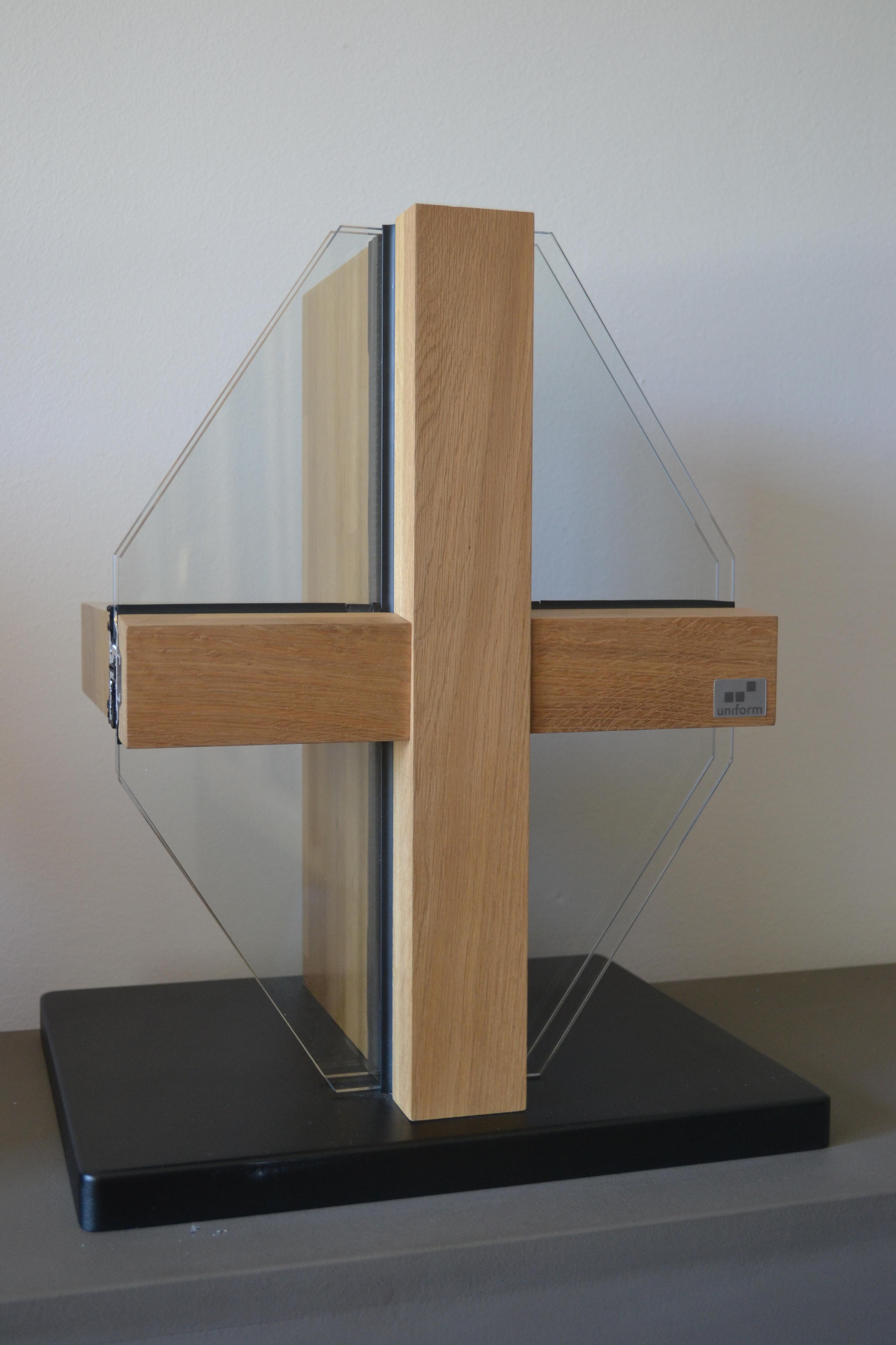 Pereti cortina lemn-aluminiu UNIFORM - Poza 1