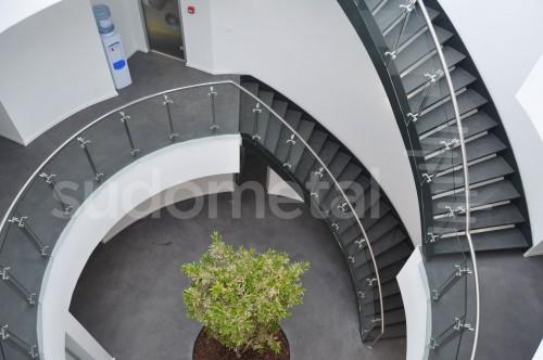 Scari cu vang lateral - Scara circulara sediu S SUDOMETAL - Poza 3