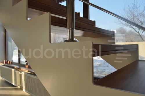 Scari cu vang lateral - Scara debitata pe laser casa particulara SUDOMETAL - Poza 1