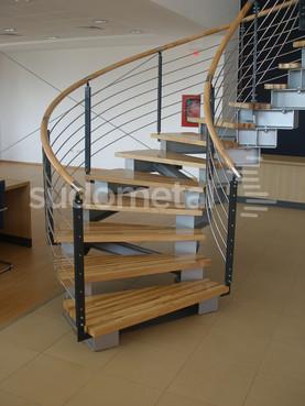 Scari cu vang lateral - Scara design showroom SUDOMETAL - Poza 5