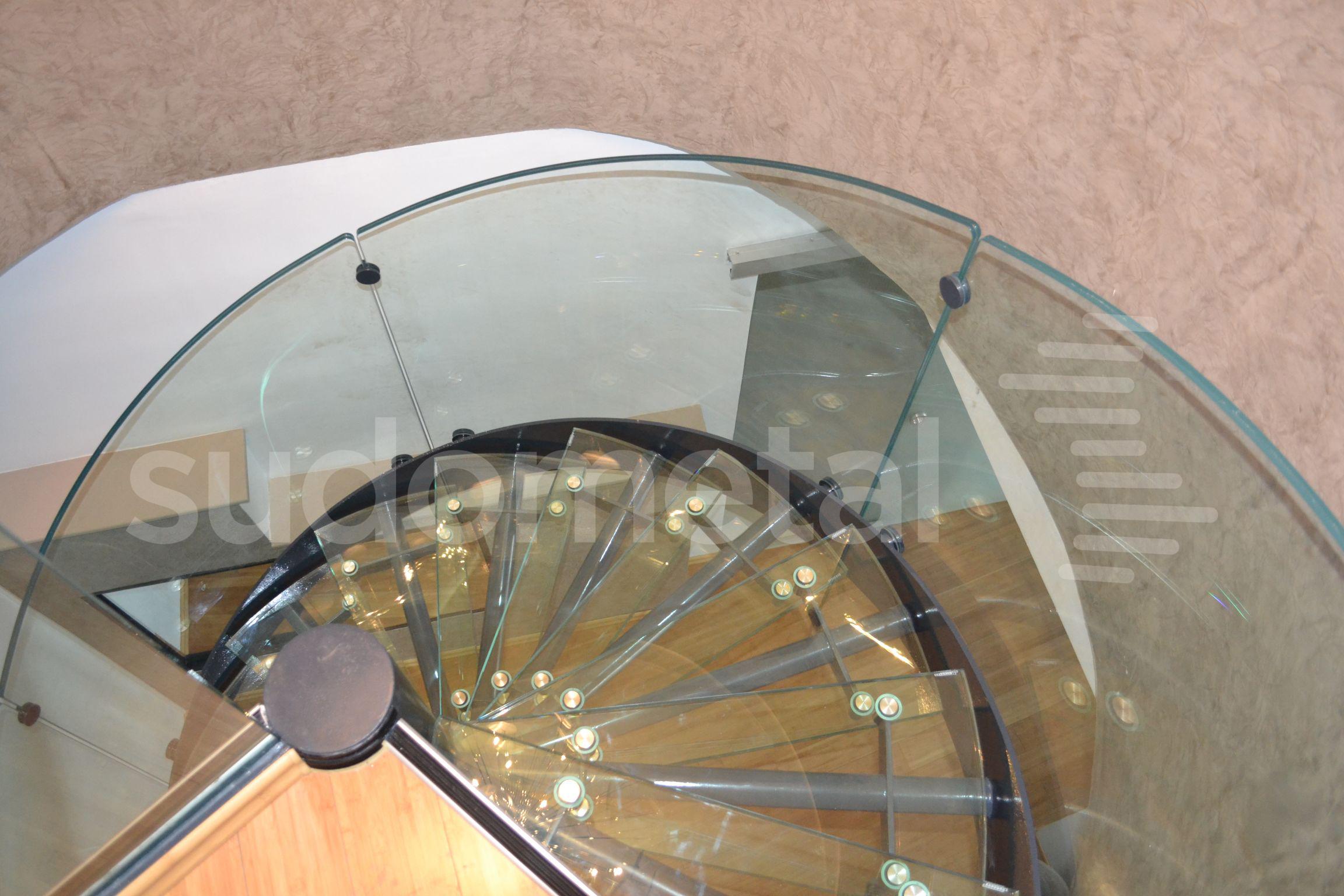 Scari spirala - Scara din sticla curba Penthouse SUDOMETAL - Poza 2