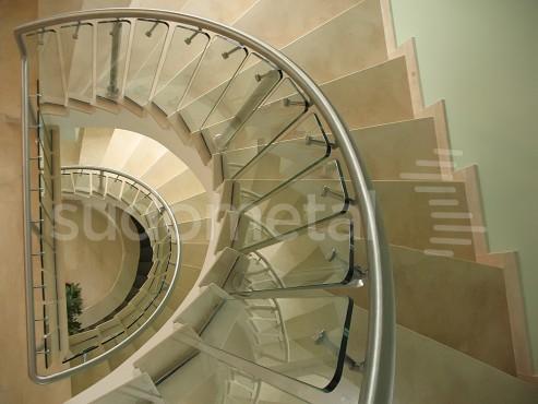 Balustrade din inox-sticla - Balustrada sediu companie Bucuresti SUDOMETAL - Poza 3