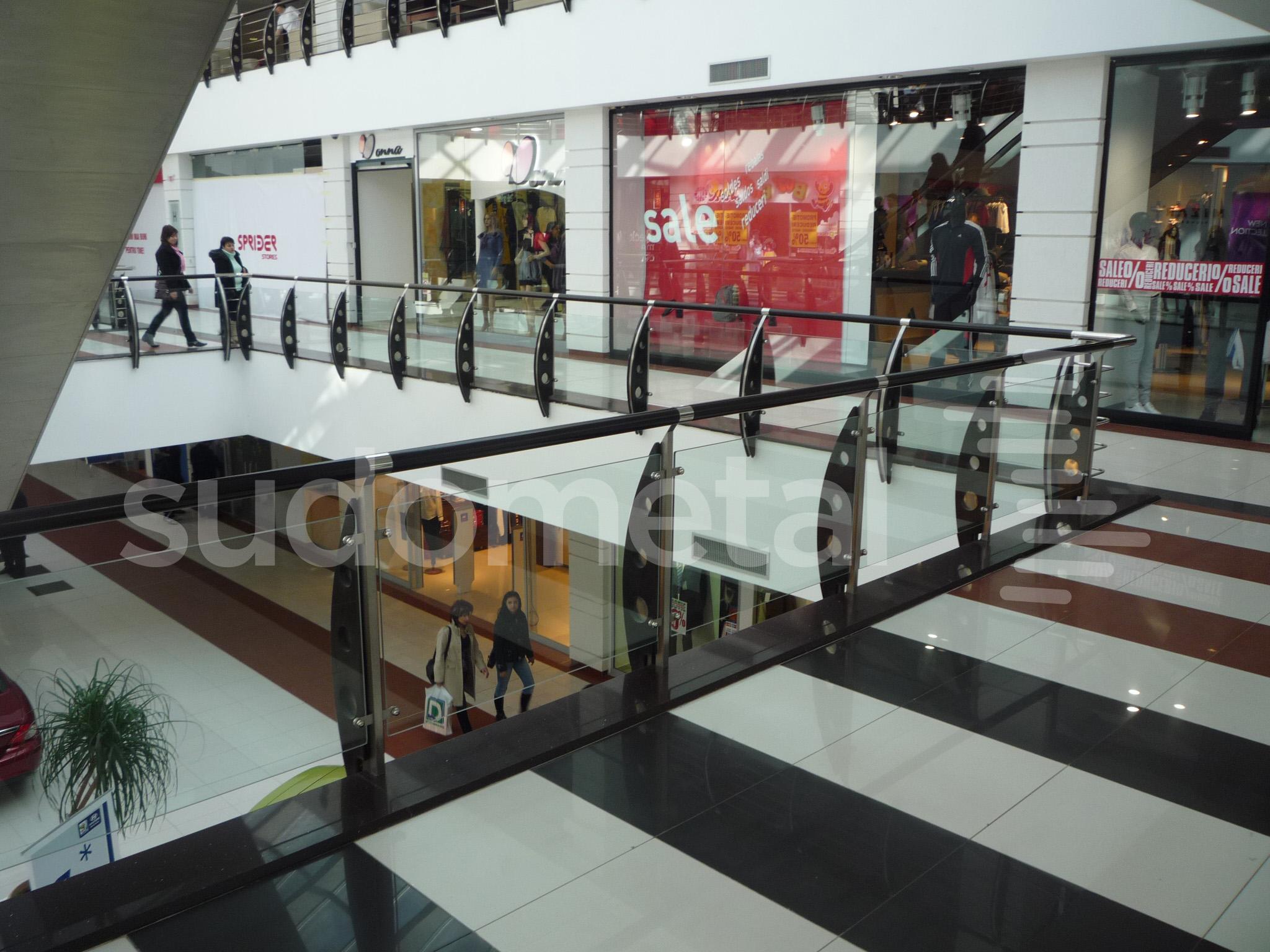 Balustrade din inox-sticla - Balustrade Arena Mall Bacau SUDOMETAL - Poza 4