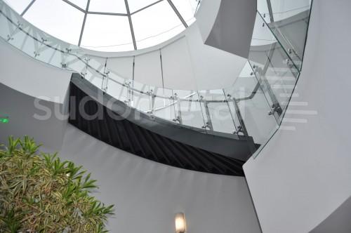 Balustrade din inox-sticla - Balustrade sediu companie SECOM SUDOMETAL - Poza 3