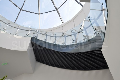 Balustrade din inox-sticla - Balustrade sediu companie SECOM SUDOMETAL - Poza 9
