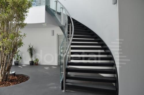 Balustrade din inox-sticla - Balustrade sediu companie SECOM SUDOMETAL - Poza 10