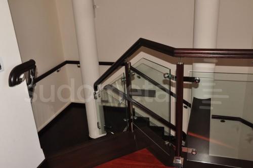 Balustrade din inox-lemn - Balustrada casa particulara Bucuresti SUDOMETAL - Poza 3