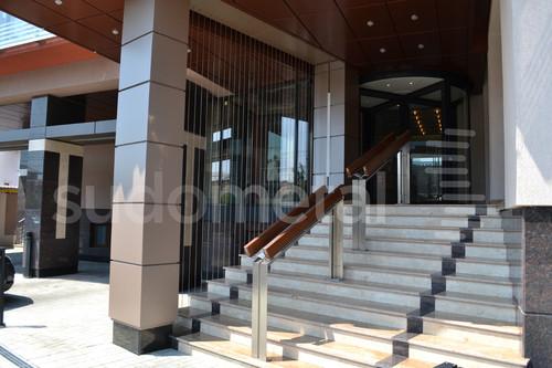 Balustrade din inox-lemn - Balustrada Hotel Tolea SUDOMETAL - Poza 5