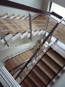 Balustrade din inox-lemn - Balustrada Hotel Tolea SUDOMETAL - Poza 6