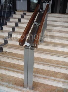 Balustrade din inox-lemn - Balustrada Hotel Tolea SUDOMETAL - Poza 7