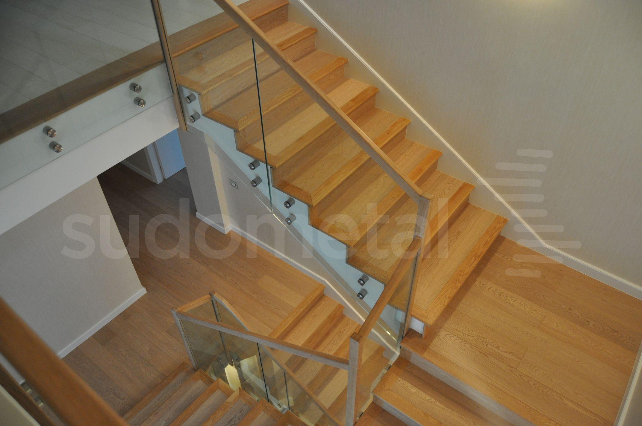 Balustrade din sticla - Balustrada casa particulara Otopeni SUDOMETAL - Poza 2