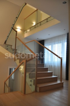 Balustrade din sticla - Balustrada casa particulara Otopeni SUDOMETAL - Poza 3