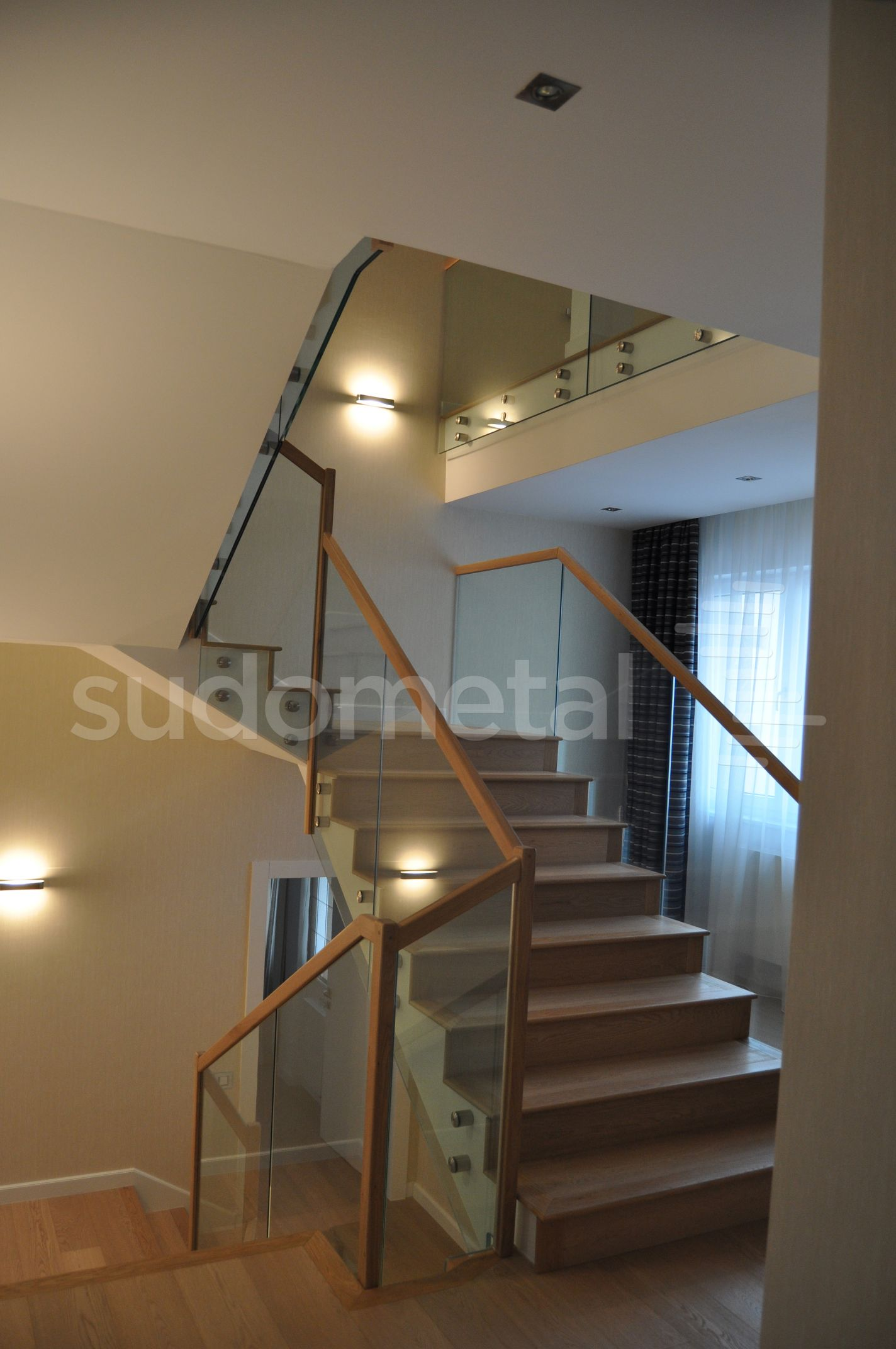 Balustrade din sticla - Balustrada casa particulara Otopeni SUDOMETAL - Poza 5