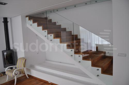 Balustrade din sticla - Balustrada casa particulara Corbeanca SUDOMETAL - Poza 1