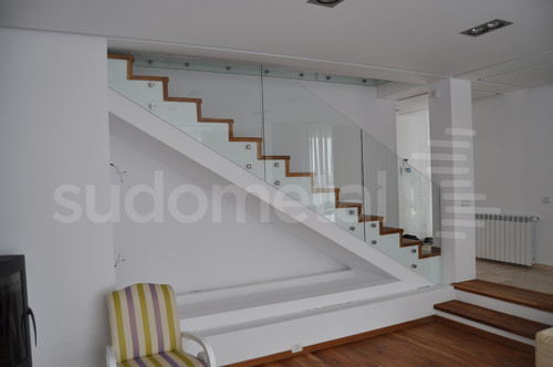 Balustrade din sticla - Balustrada casa particulara Corbeanca SUDOMETAL - Poza 2