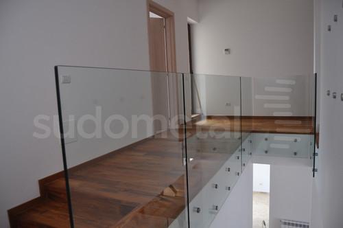 Balustrade din sticla - Balustrada casa particulara Corbeanca SUDOMETAL - Poza 3