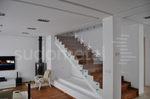 Balustrade din sticla - Balustrada casa particulara Corbeanca SUDOMETAL - Poza 5