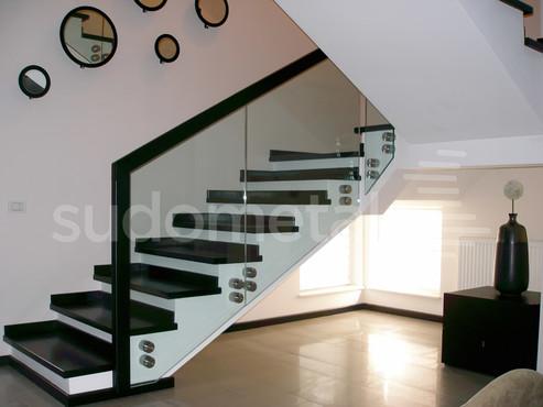 Balustrade din sticla - Balustrada casa particulara Tecuci SUDOMETAL - Poza 2
