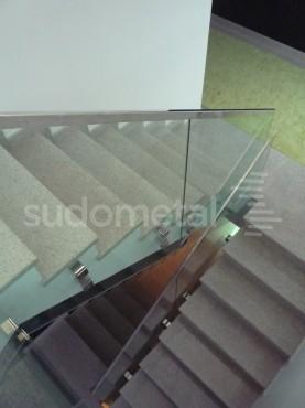 Balustrade din sticla - Balustrada casa particulara Galati SUDOMETAL - Poza 4