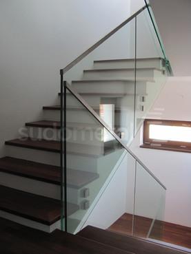 Balustrade din sticla - Balustrada casa particulara Bucuresti SUDOMETAL - Poza 1