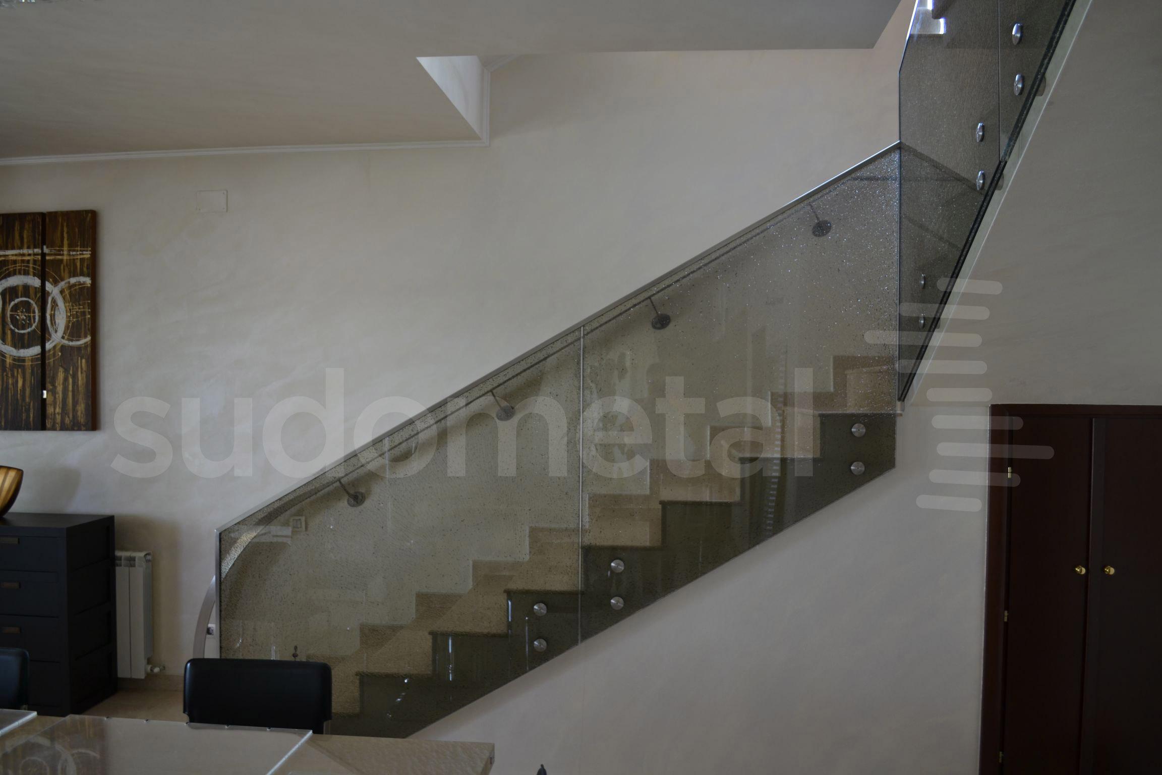 Balustrade din sticla - Balustrada casa particulara Snagov SUDOMETAL - Poza 6
