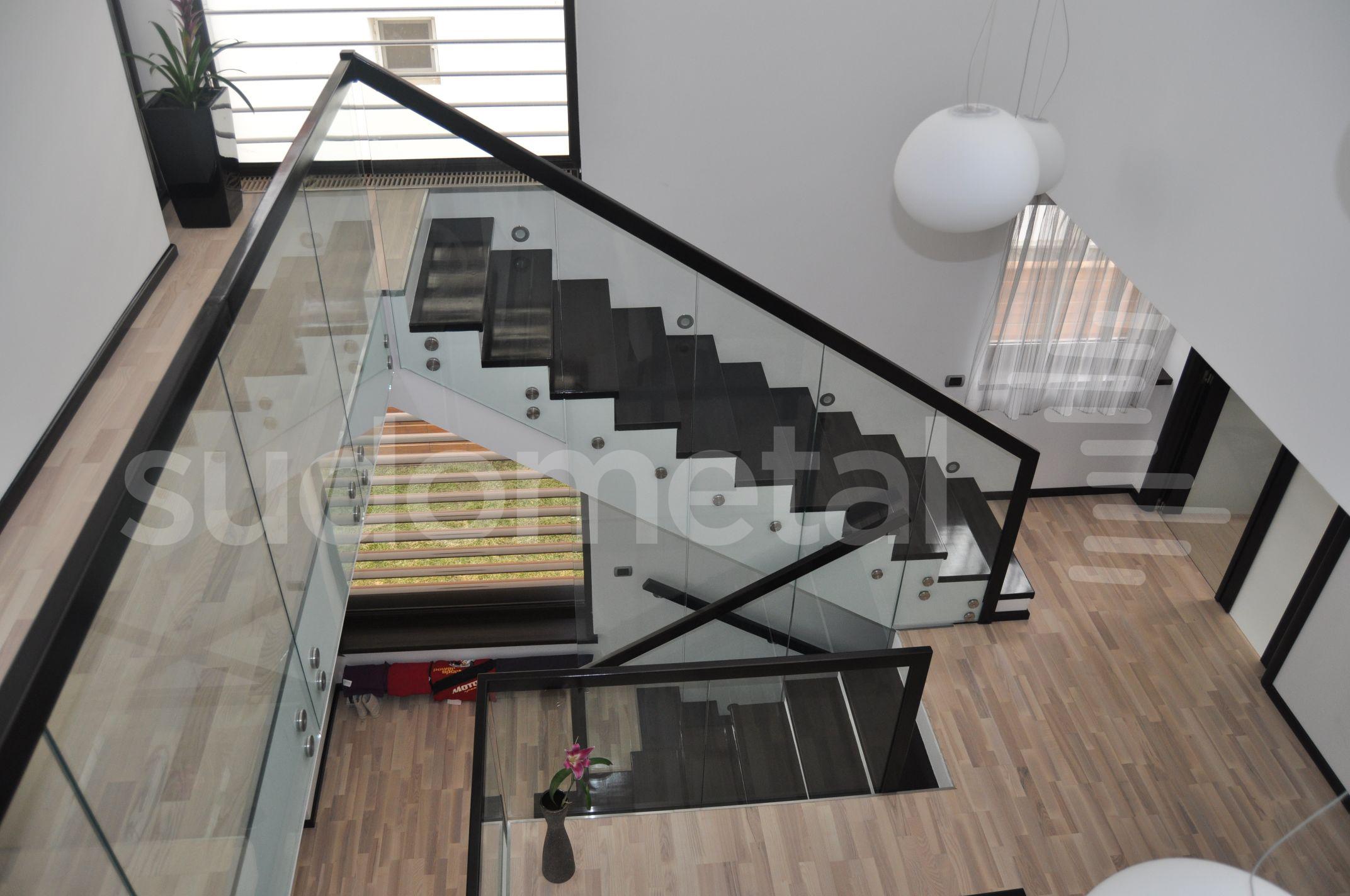 Balustrade din sticla - Balustrada casa particulara Slobozia SUDOMETAL - Poza 2