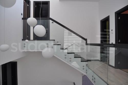Balustrade din sticla - Balustrada casa particulara Slobozia SUDOMETAL - Poza 3