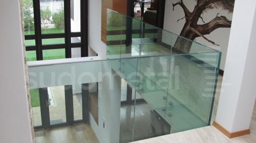 Balustrade din sticla - Balustrada din sticla tripla casa particulara Bacau SUDOMETAL - Poza 5